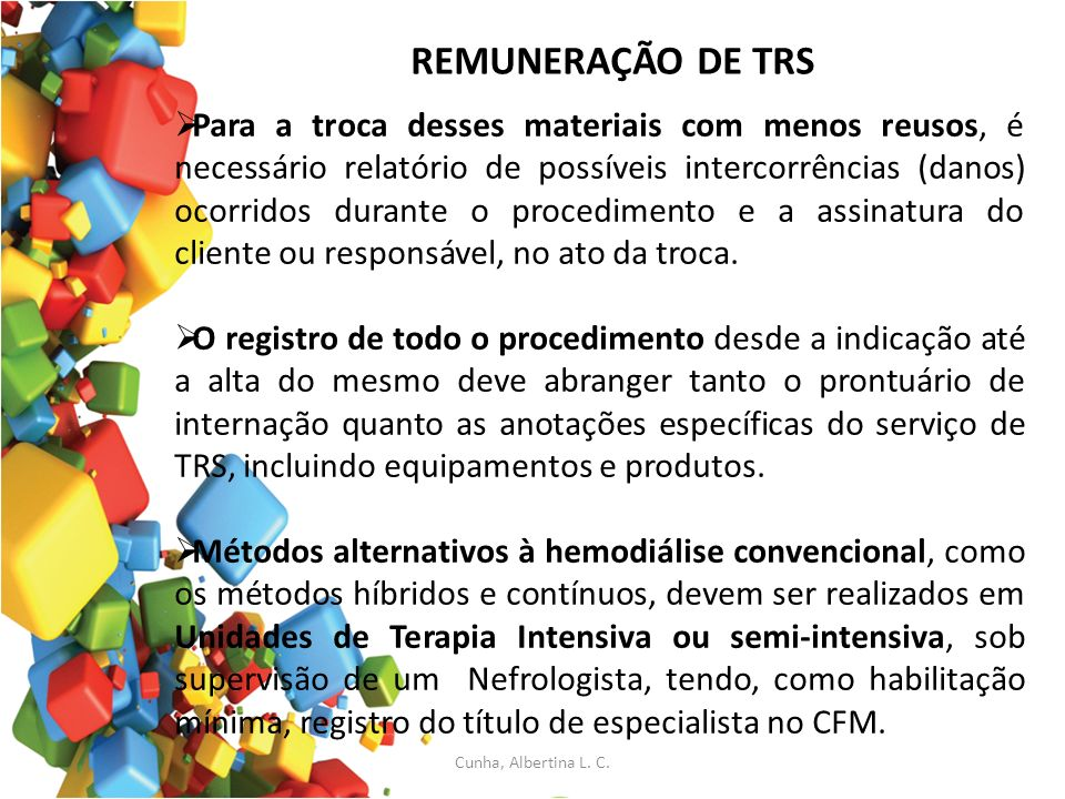 REMUNERAÇÃO DE TRS