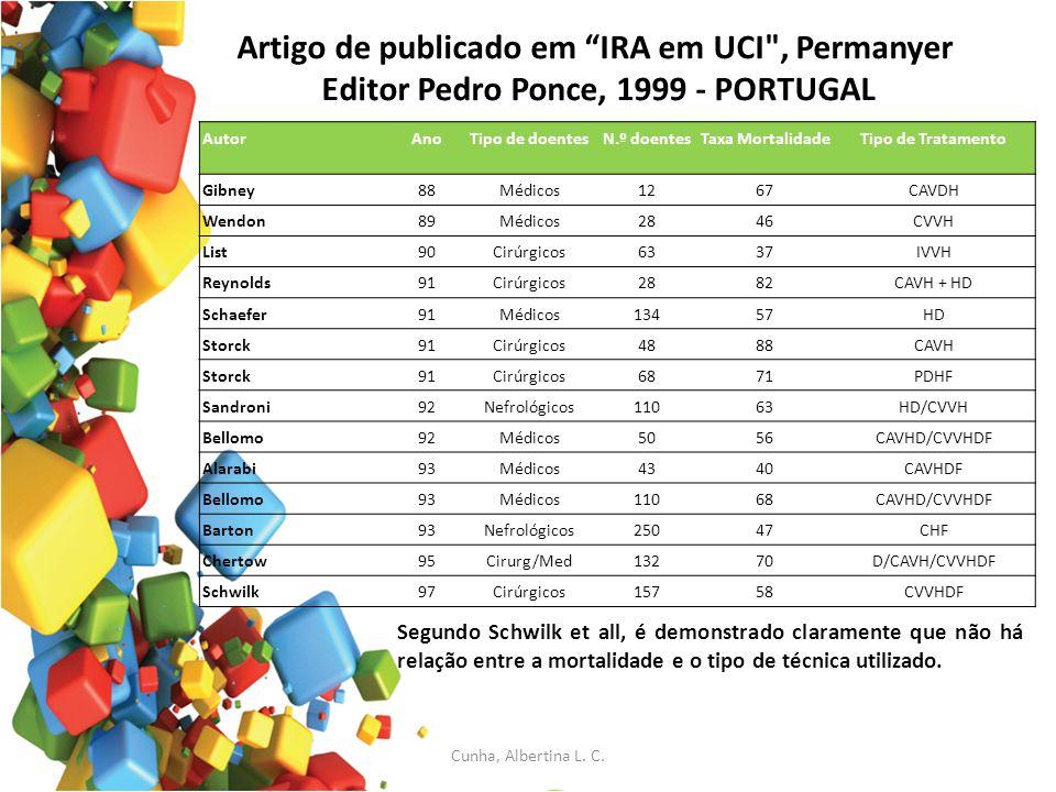 Artigo de publicado em IRA em UCI , Permanyer Editor Pedro Ponce, 1999 - PORTUGAL