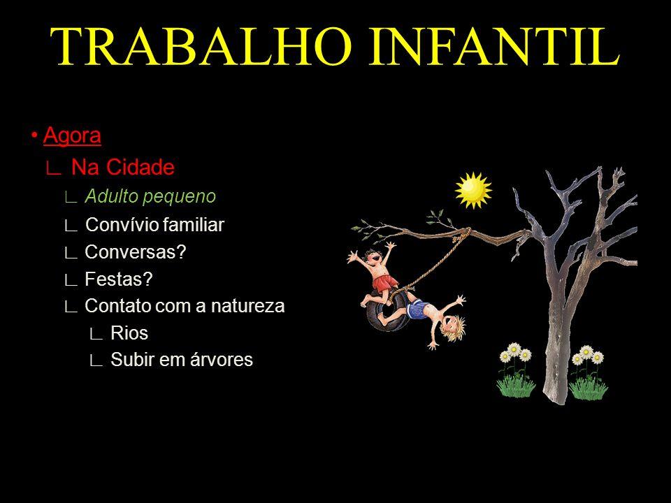 TRABALHO INFANTIL • Agora ∟ Na Cidade ∟ Convívio familiar