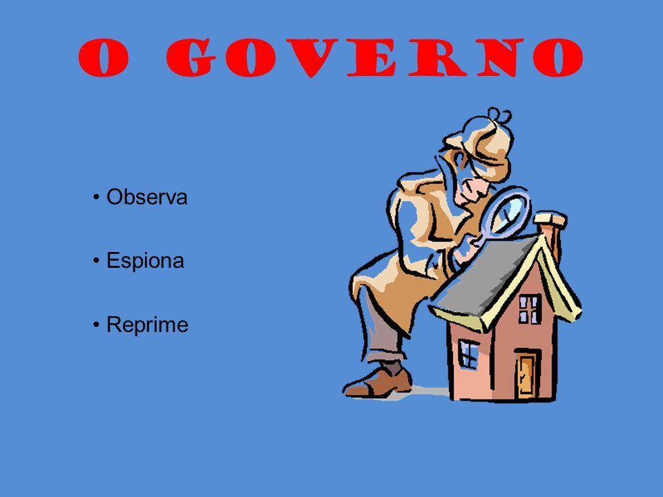 O GOVERNO • Observa • Espiona • Reprime