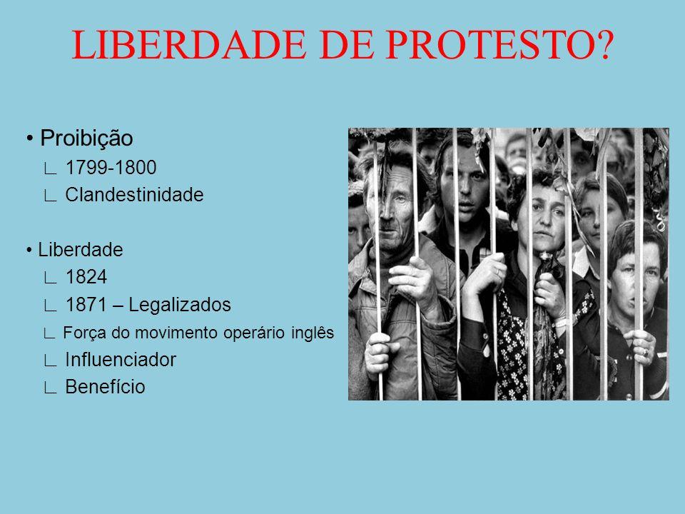 LIBERDADE DE PROTESTO • Proibição ∟ 1799-1800 ∟ Clandestinidade