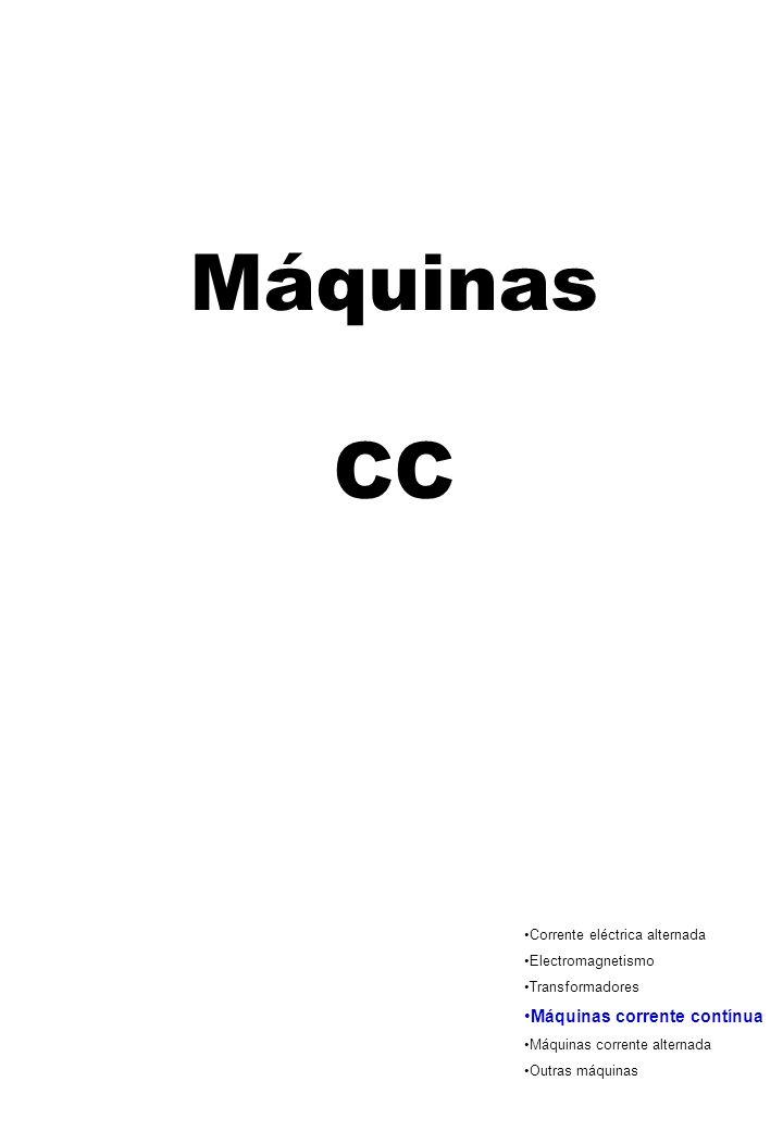 Máquinas CC Máquinas corrente contínua Corrente eléctrica alternada