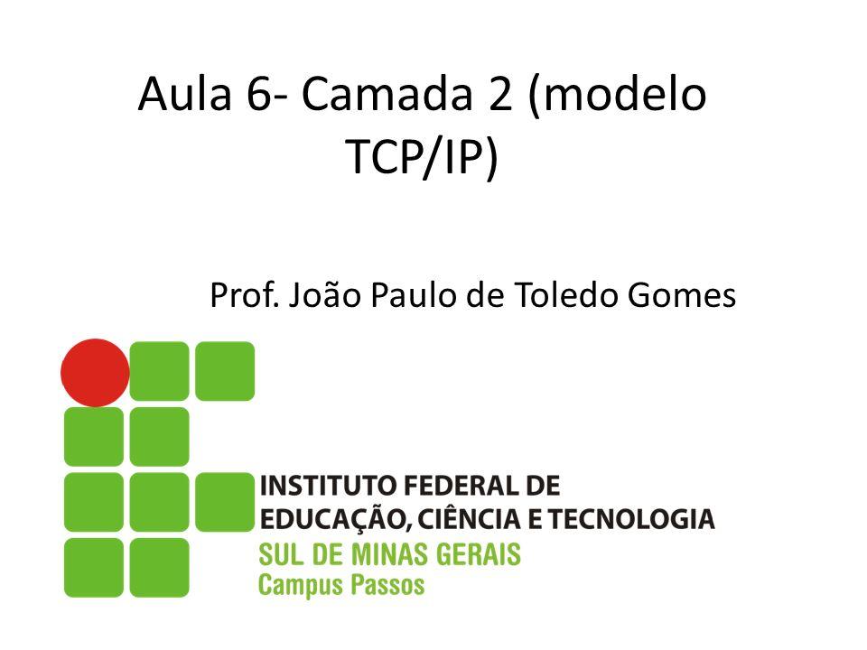 Aula 6- Camada 2 (modelo TCP/IP)