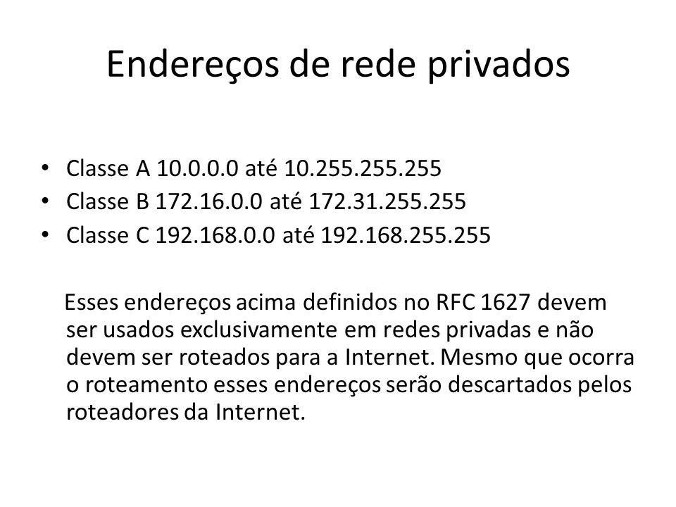 Endereços de rede privados