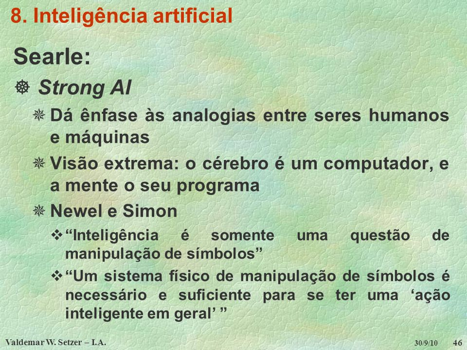 8. Inteligência artificial