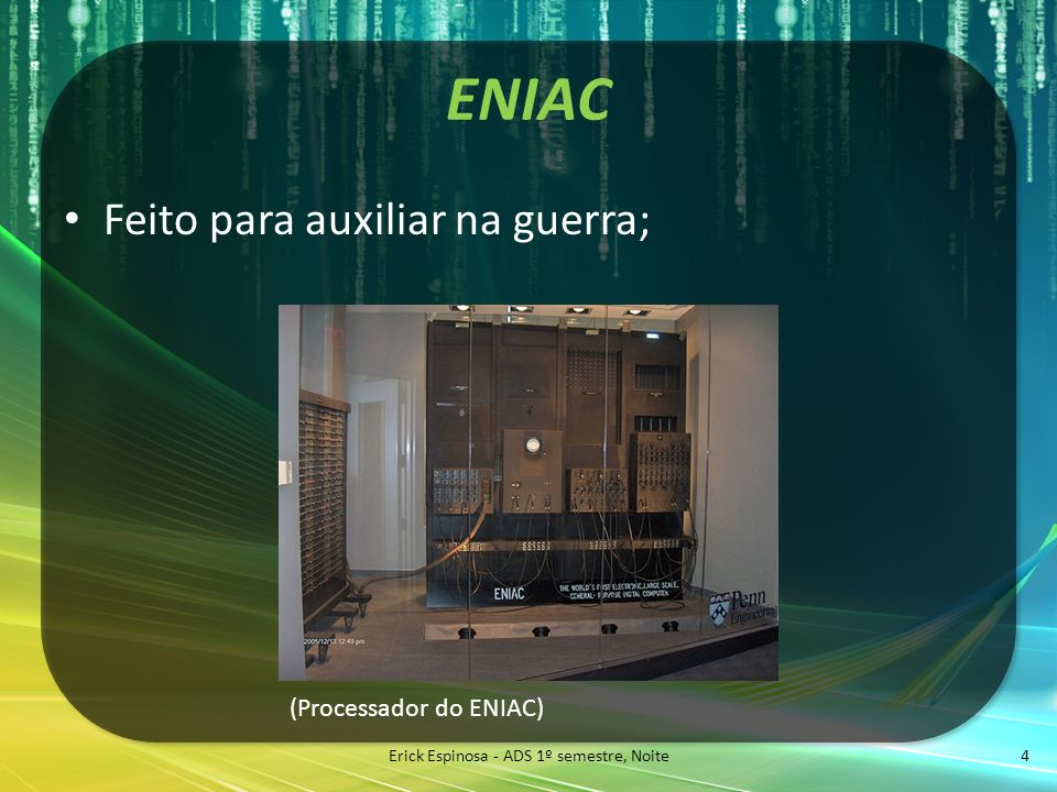 Erick Espinosa - ADS 1º semestre, Noite