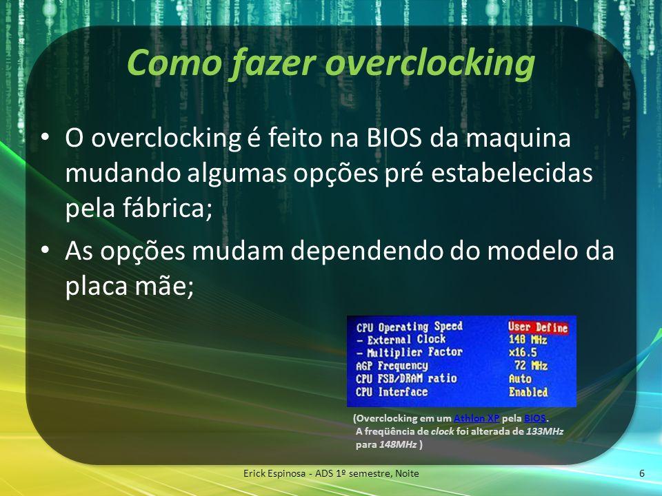 Como fazer overclocking