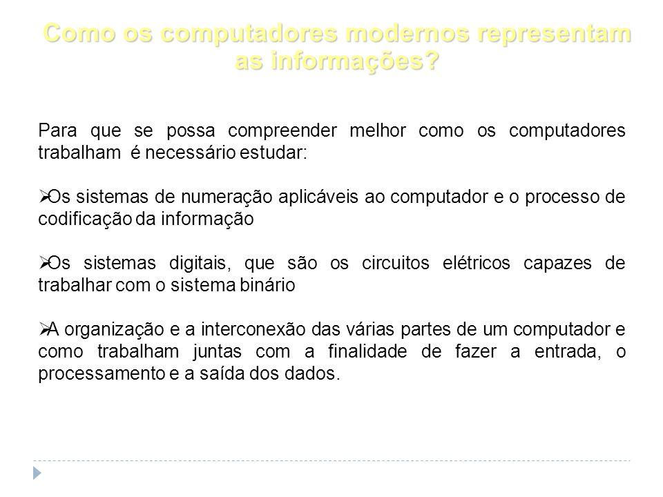 Como os computadores modernos representam as informações