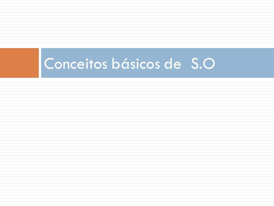 Conceitos básicos de S.O