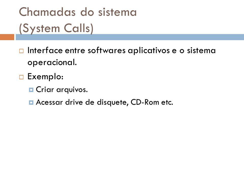 Chamadas do sistema (System Calls)