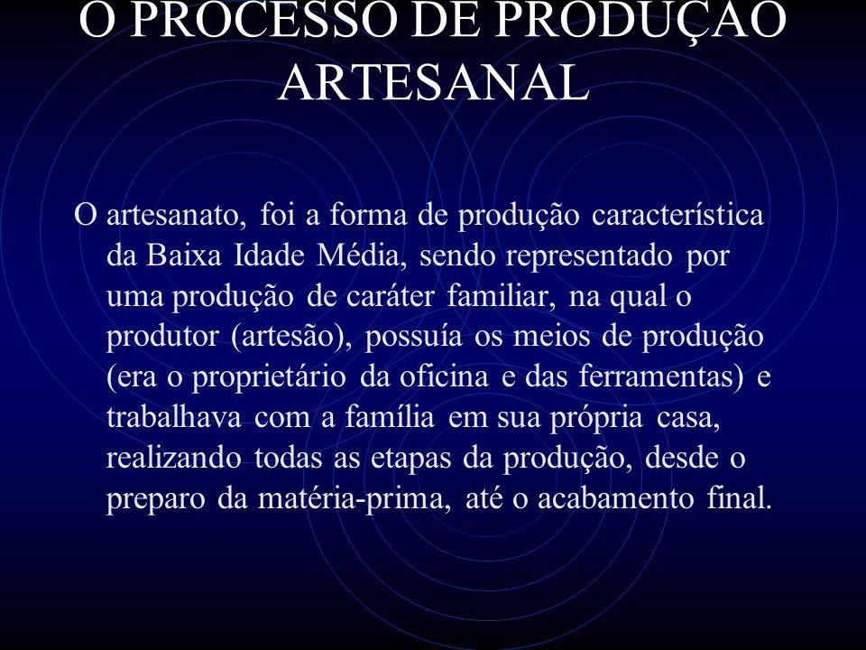 O PROCESSO DE PRODUÇÃO ARTESANAL
