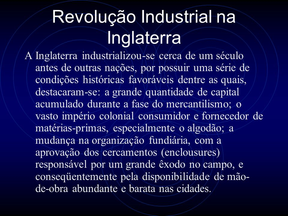 Revolução Industrial na Inglaterra