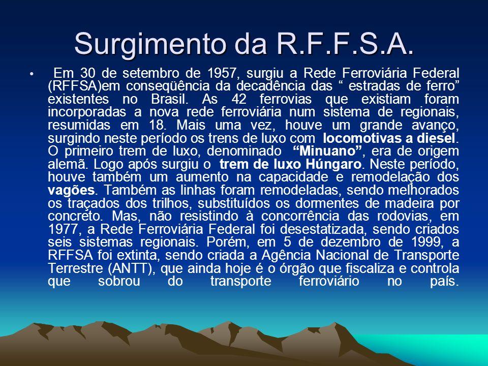 Surgimento da R.F.F.S.A.