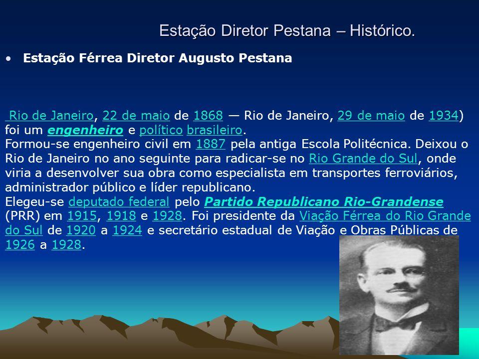 Estação Diretor Pestana – Histórico.