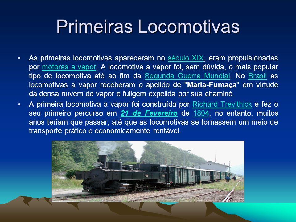 Primeiras Locomotivas