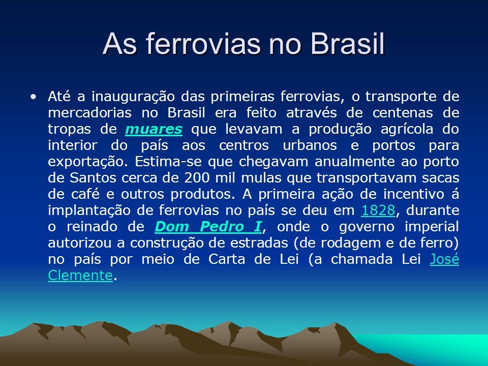 As ferrovias no Brasil