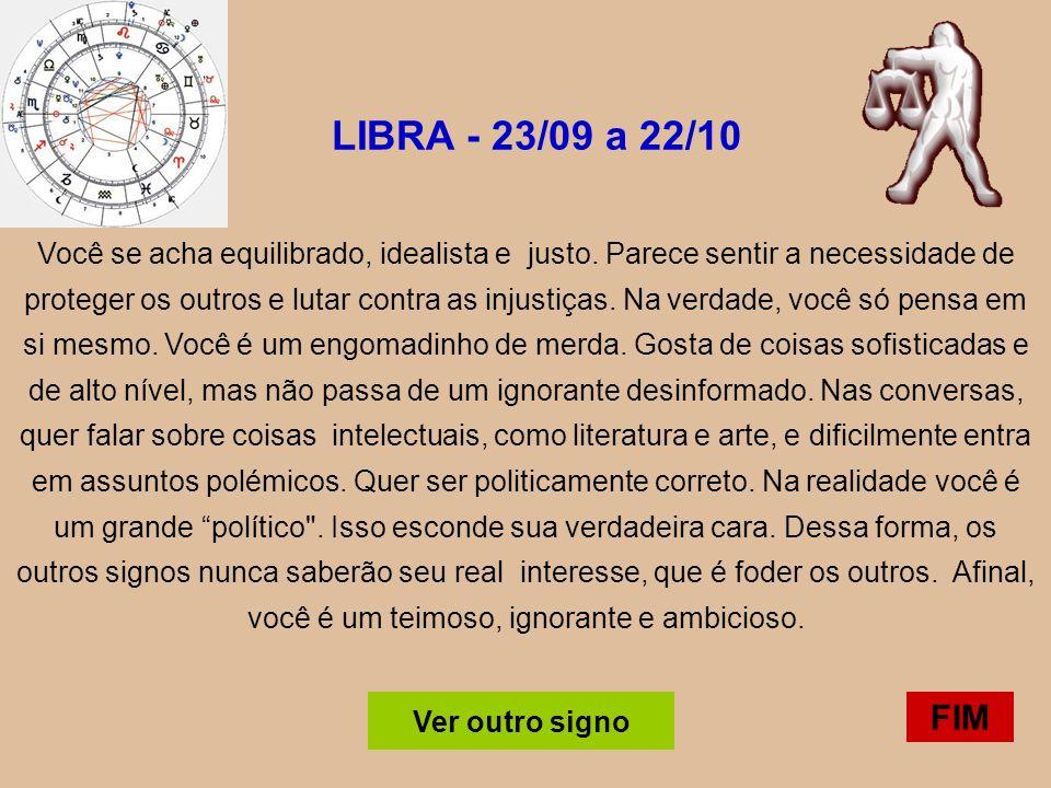 LIBRA - 23/09 a 22/10