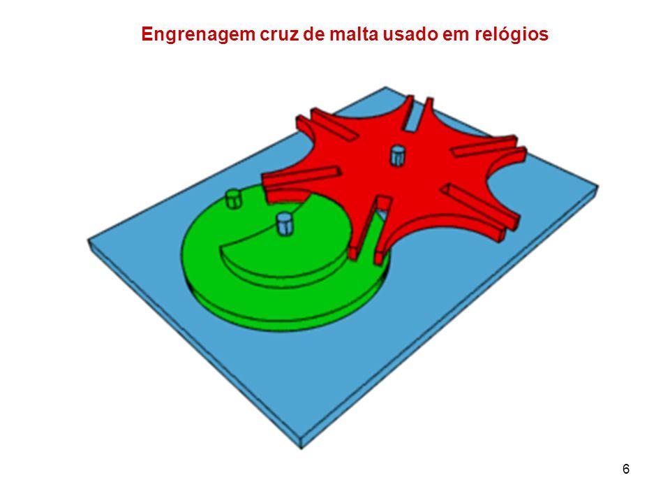 Engrenagem cruz de malta usado em relógios