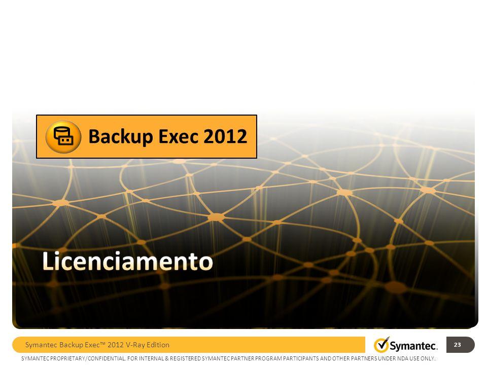 Backup Exec 2012 Symantec Backup Exec™ 2012 V-Ray Edition 23