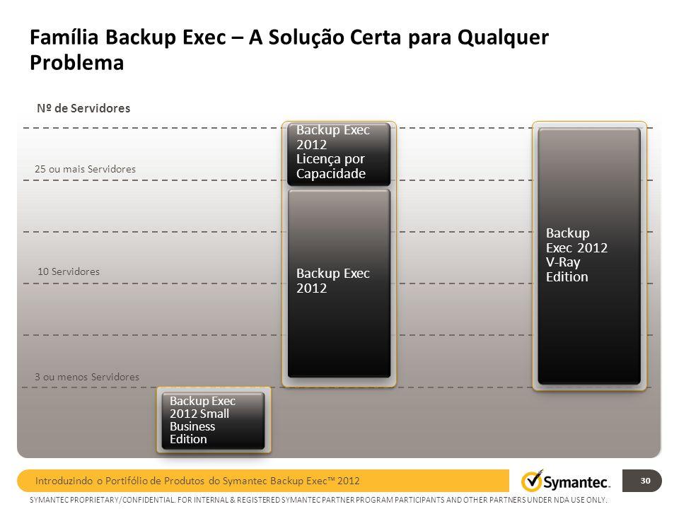 Família Backup Exec – A Solução Certa para Qualquer Problema