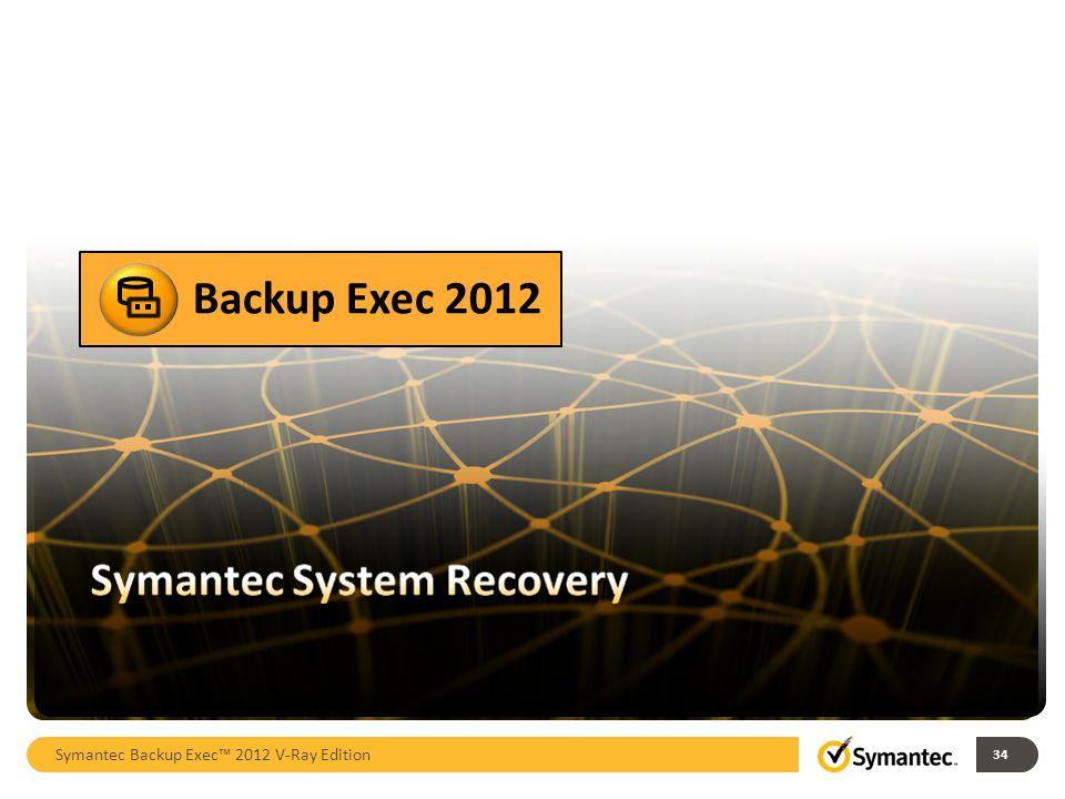 Backup Exec 2012 Symantec Backup Exec™ 2012 V-Ray Edition 34