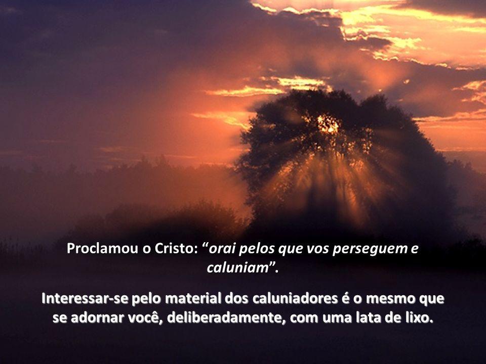 Proclamou o Cristo: orai pelos que vos perseguem e caluniam .