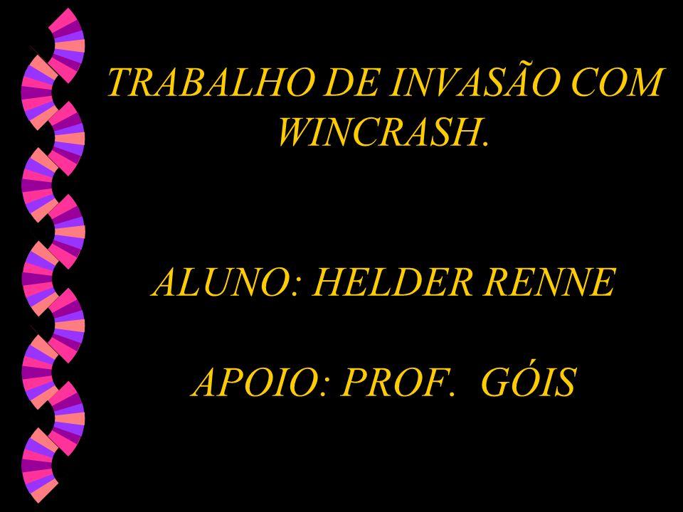 TRABALHO DE INVASÃO COM WINCRASH. ALUNO: HELDER RENNE APOIO: PROF. GÓIS