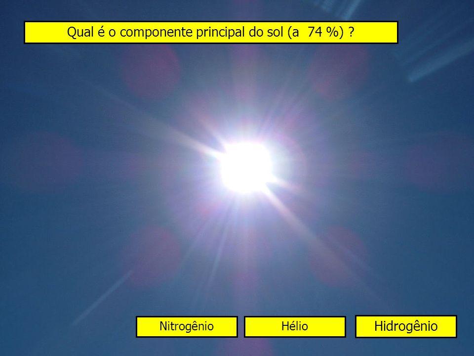 Qual é o componente principal do sol (a 74 %)