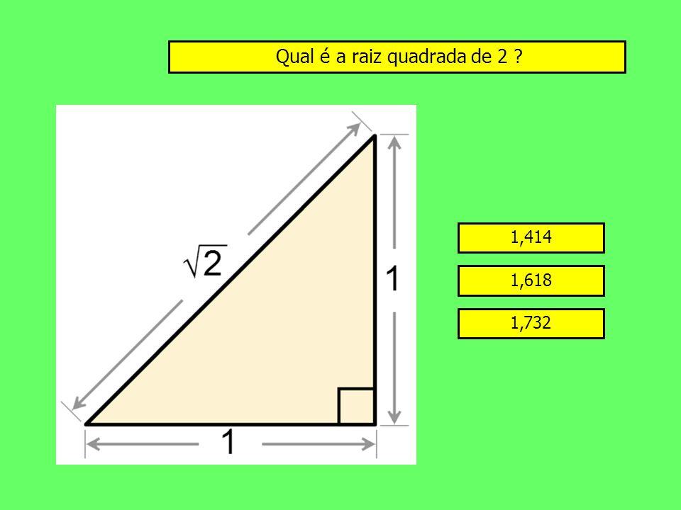 Qual é a raiz quadrada de 2