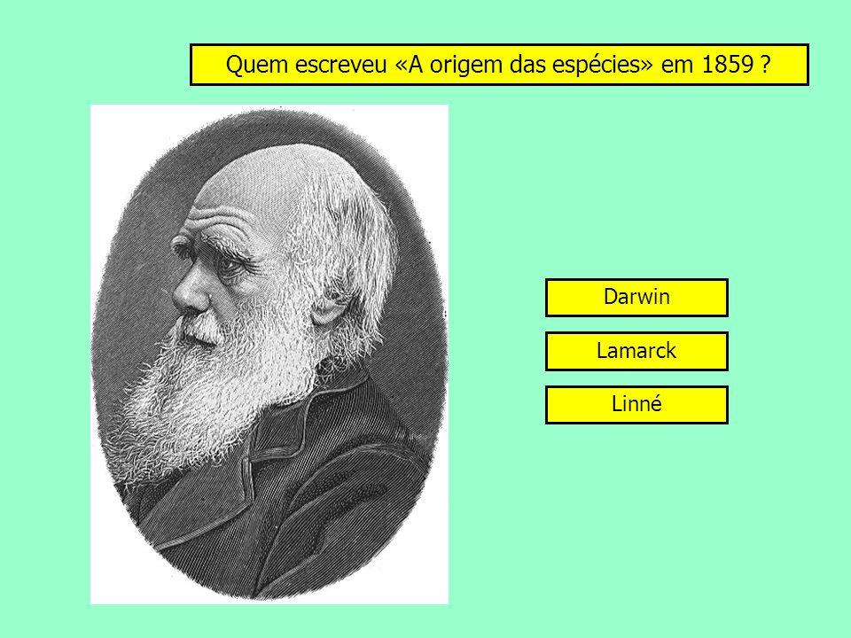 Quem escreveu «A origem das espécies» em 1859