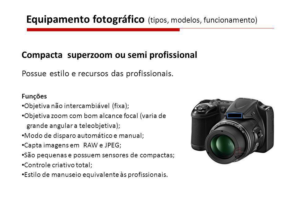 Equipamento fotográfico (tipos, modelos, funcionamento)