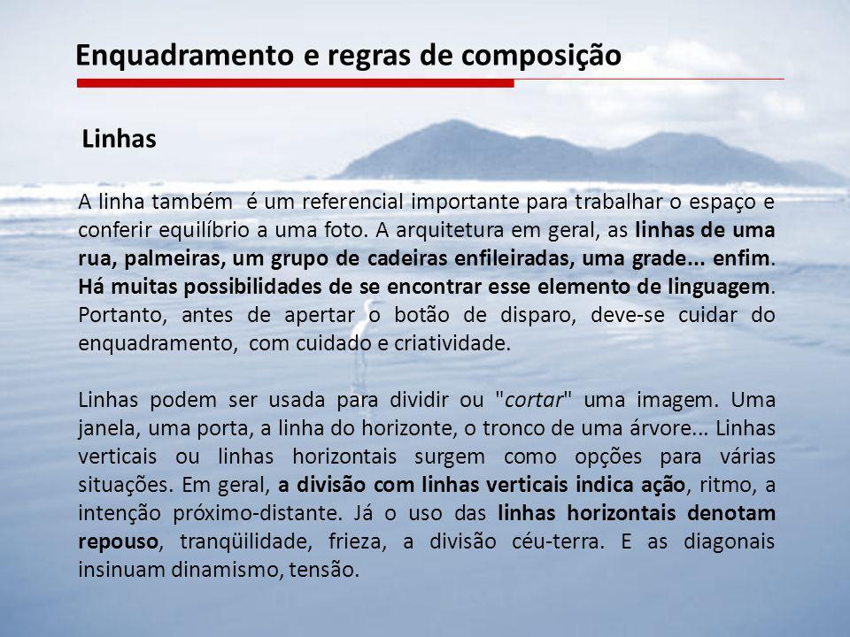 Enquadramento e regras de composição