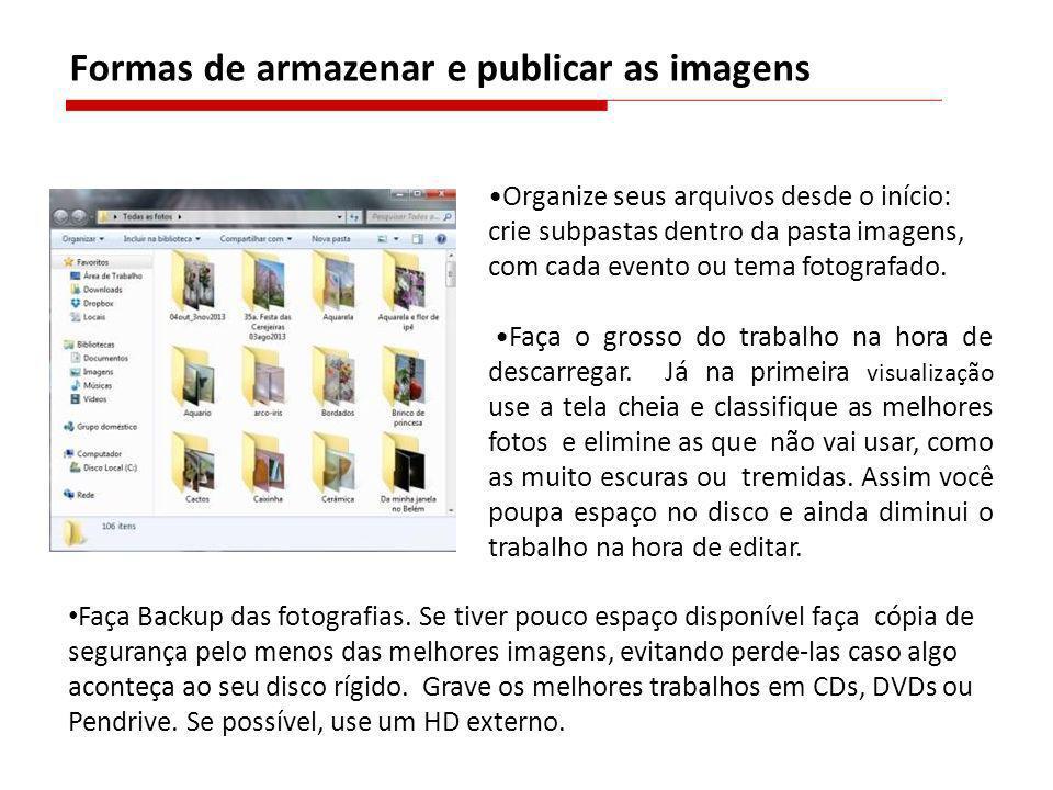 Formas de armazenar e publicar as imagens