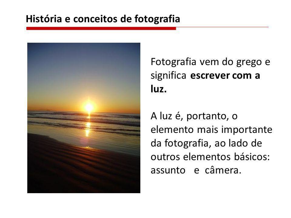 História e conceitos de fotografia