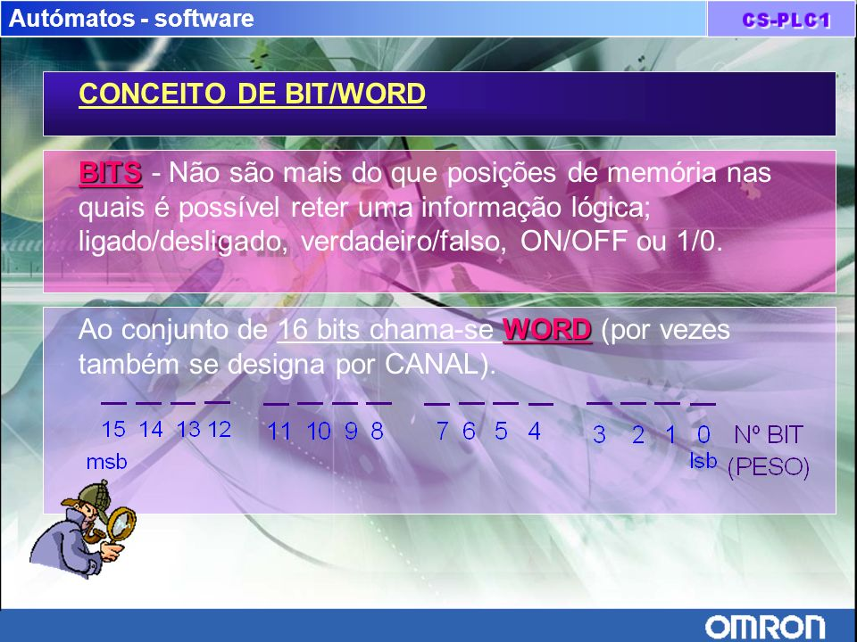 Autómatos - software CONCEITO DE BIT/WORD.