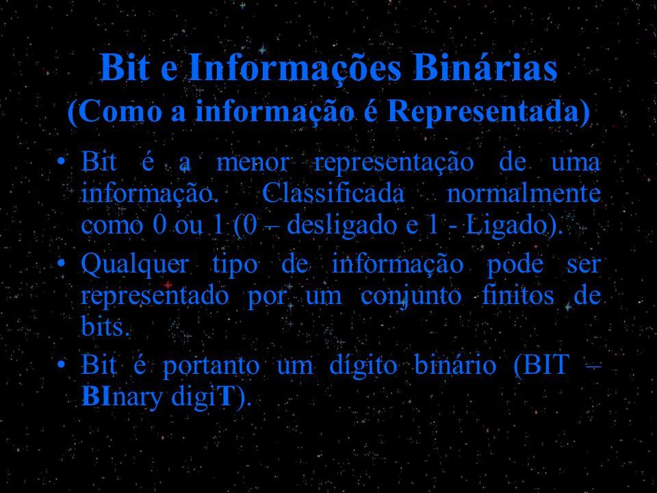 Bit e Informações Binárias (Como a informação é Representada)