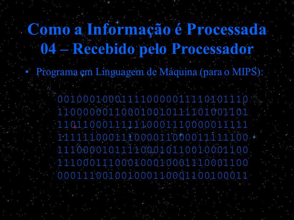 Como a Informação é Processada 04 – Recebido pelo Processador