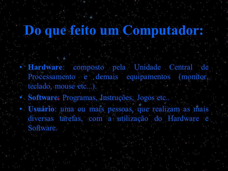 Do que feito um Computador: