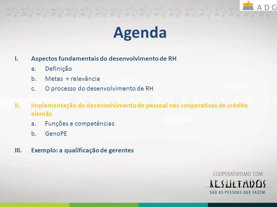 Agenda Aspectos fundamentais do desenvolvimento de RH Definição