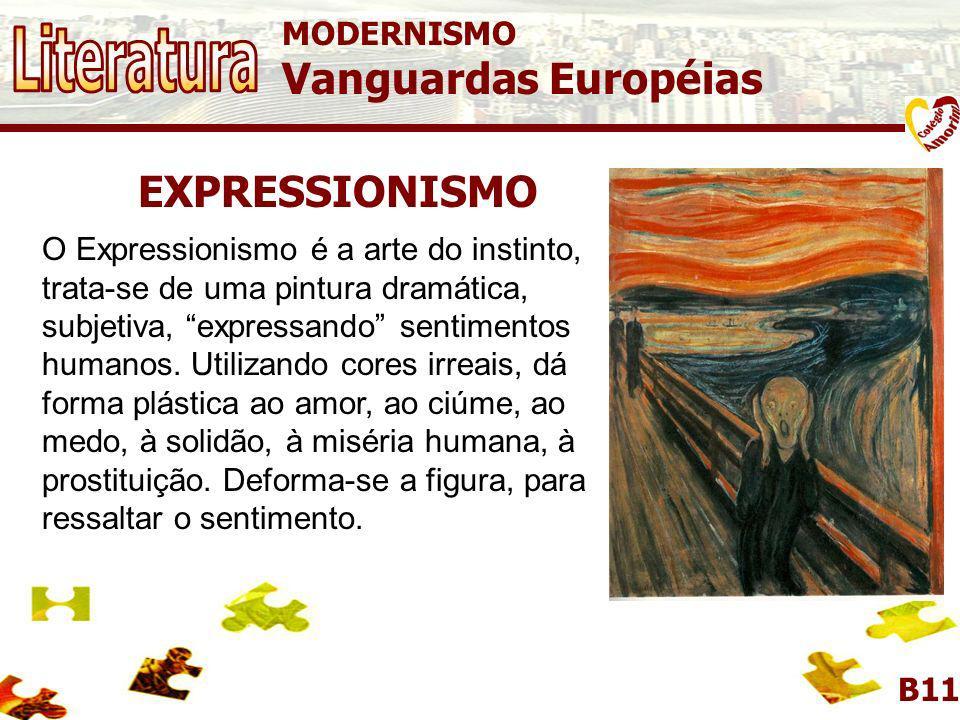 Literatura Vanguardas Européias EXPRESSIONISMO MODERNISMO