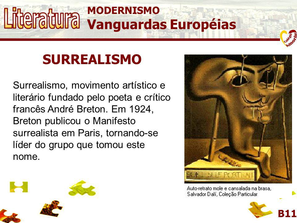 Literatura Vanguardas Européias SURREALISMO MODERNISMO