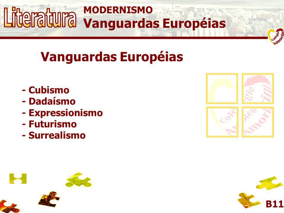 Literatura Vanguardas Européias Vanguardas Européias MODERNISMO