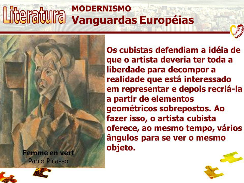 Literatura Vanguardas Européias MODERNISMO