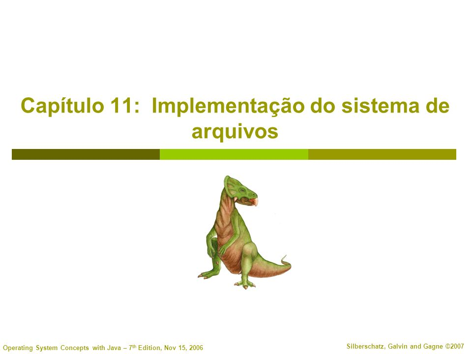 Capítulo 11: Implementação do sistema de arquivos