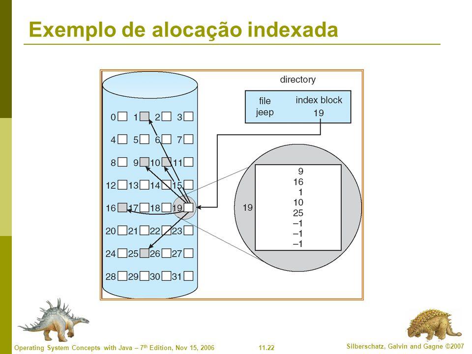 Exemplo de alocação indexada