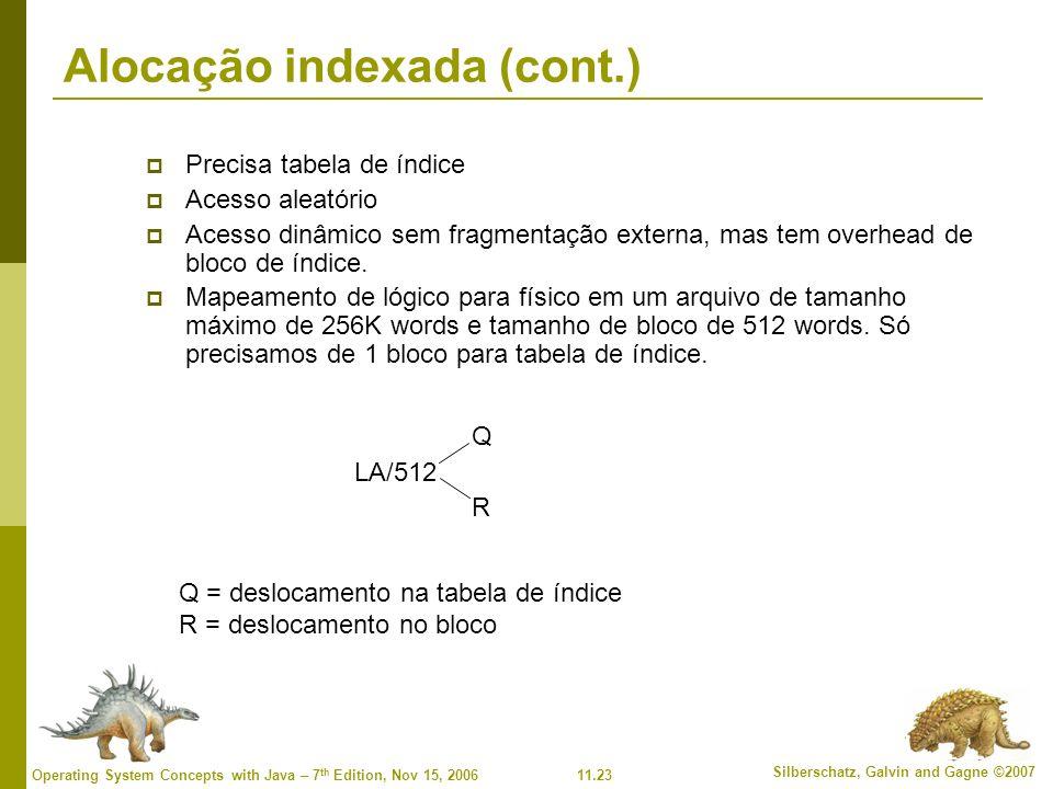 Alocação indexada (cont.)