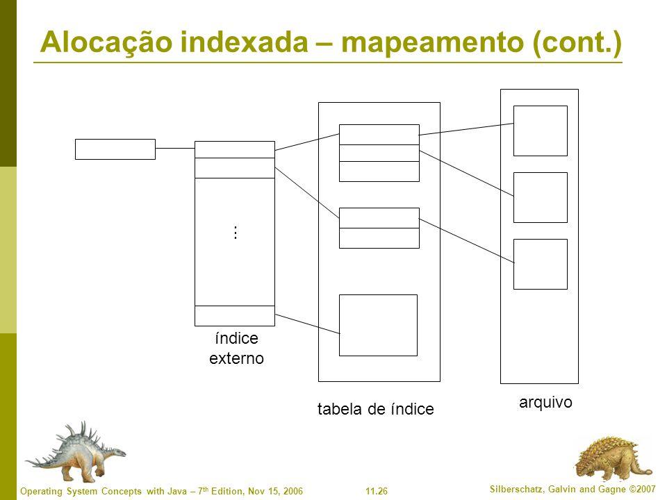 Alocação indexada – mapeamento (cont.)