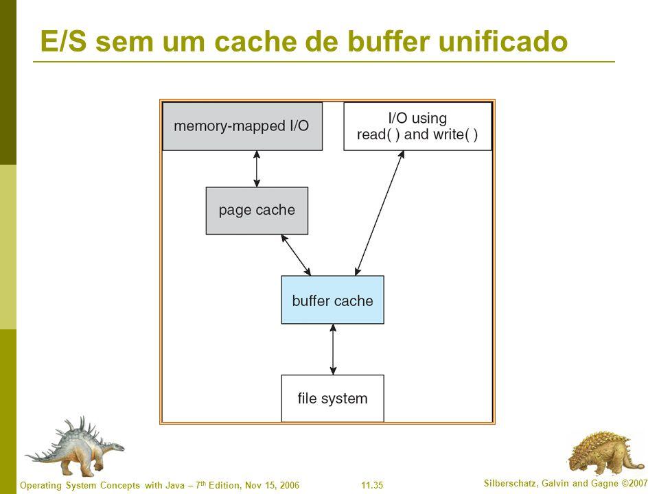 E/S sem um cache de buffer unificado
