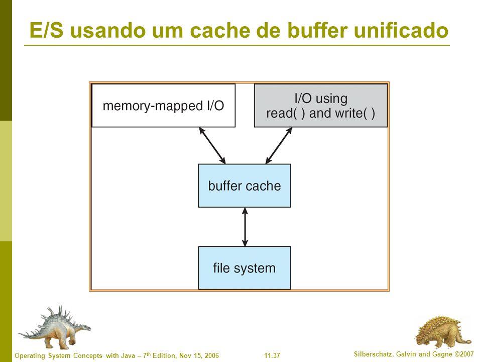 E/S usando um cache de buffer unificado
