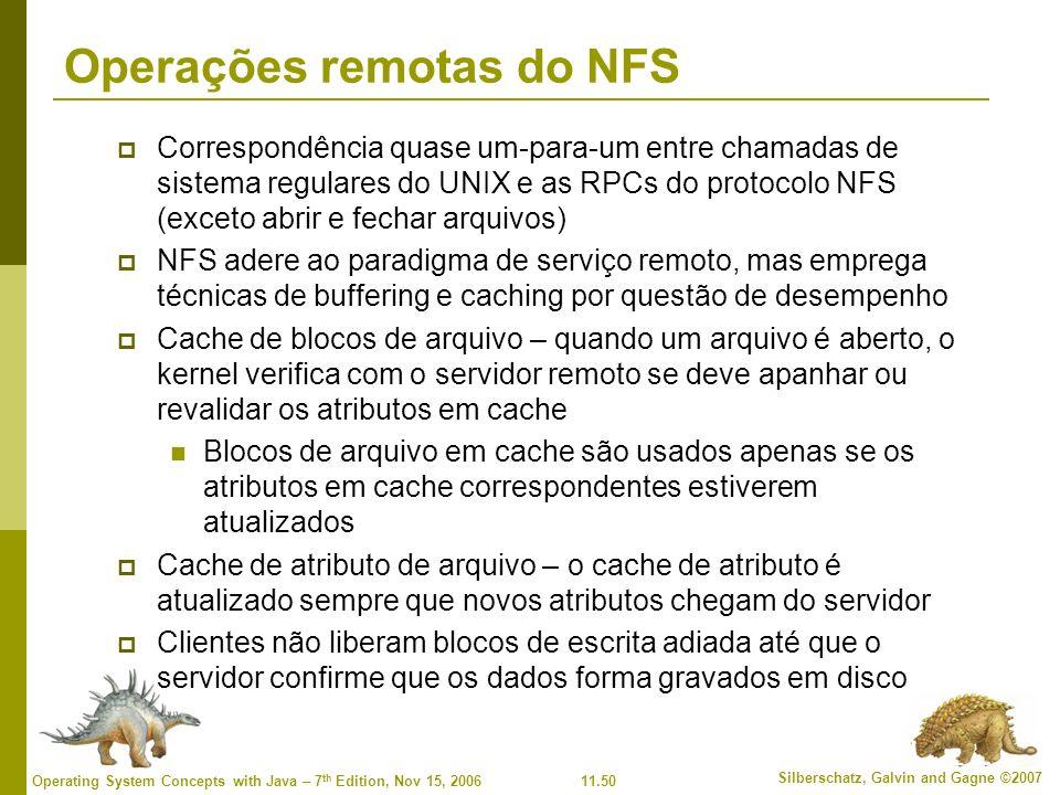 Operações remotas do NFS